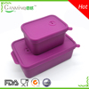 Silicone food container for salad or lunch box with lid