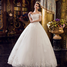 WTS69 Lace vintag vestidos de novia 2017 bride off shoulder wedding dresses Casamento china robe de mariage