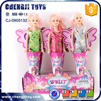 12pcs barbie girl model toy for kids small craft doll