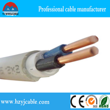 Factory Price 2.5mm Multicore Double Sheath Solid Electrical Cable, 1.5mm PVC Jacket Electrical Wire