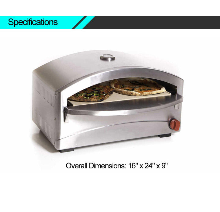 Indoor Small Pizza Gas Oven With Thermometer Buy Gas