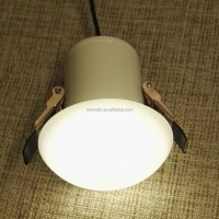 New Design Ceiling recessed IP44 12V G4 1W or 3W or 5W White Glass LED Downlight with 60mm cut out