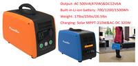 700/1200/1500Wh Lithium Battery portable solar generator 500va camping power station