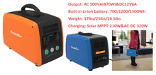 700/1200/1500Wh Lithium Battery portable solar generator 500va camping power station