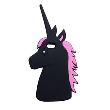 New Cartoon Cute horse Silicon Creative unicorn Mobile Phone Back Cover Silicon Case For iPhone5/5s/SE