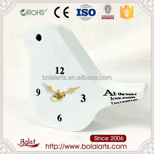 Long lasting decor bird shaped up clock
