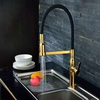 China Guangdong manufacture brass body golden chrome plated ups standard kitchen tuscany faucet