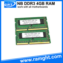 Refurbished ETT-chips 4gb laptop ddr3 ram memory