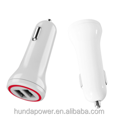 Shenzhen Factory CE 4.8A Dual usb car charger 2 port Intelligent technology