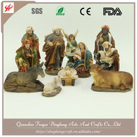 Special Handmade Religious Polyresin Nativity Item Hand Carved Nativity Sets