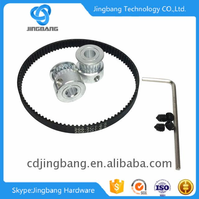 Double-side timing belt with custom pu timing belt