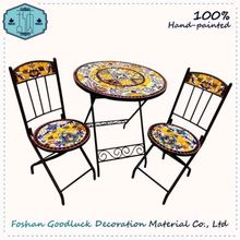 Hand Made Folding Table Set Cast Iron Leisure Indian Garden Furniture
