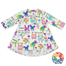 Internet Cute Toddler Kids Girls Cropped Sleeves Patterning Design Two Pocket Teenage Girls Summer Dresses