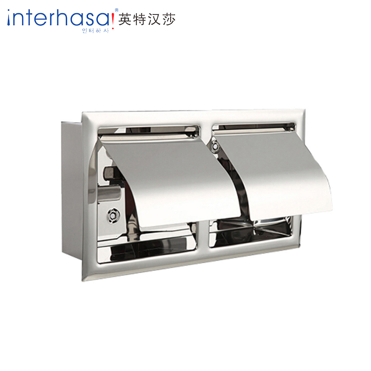 Wall mounted toilet 304 stainless steel tissue box container paper dispenser holder