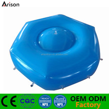 Hexagon shaped inflatable cushion PVC inflatable floating seat