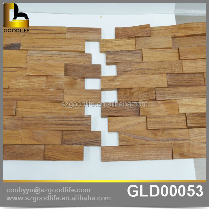 Eco Friendly Antique Solid Wood Wall Tile Imitation Tiles