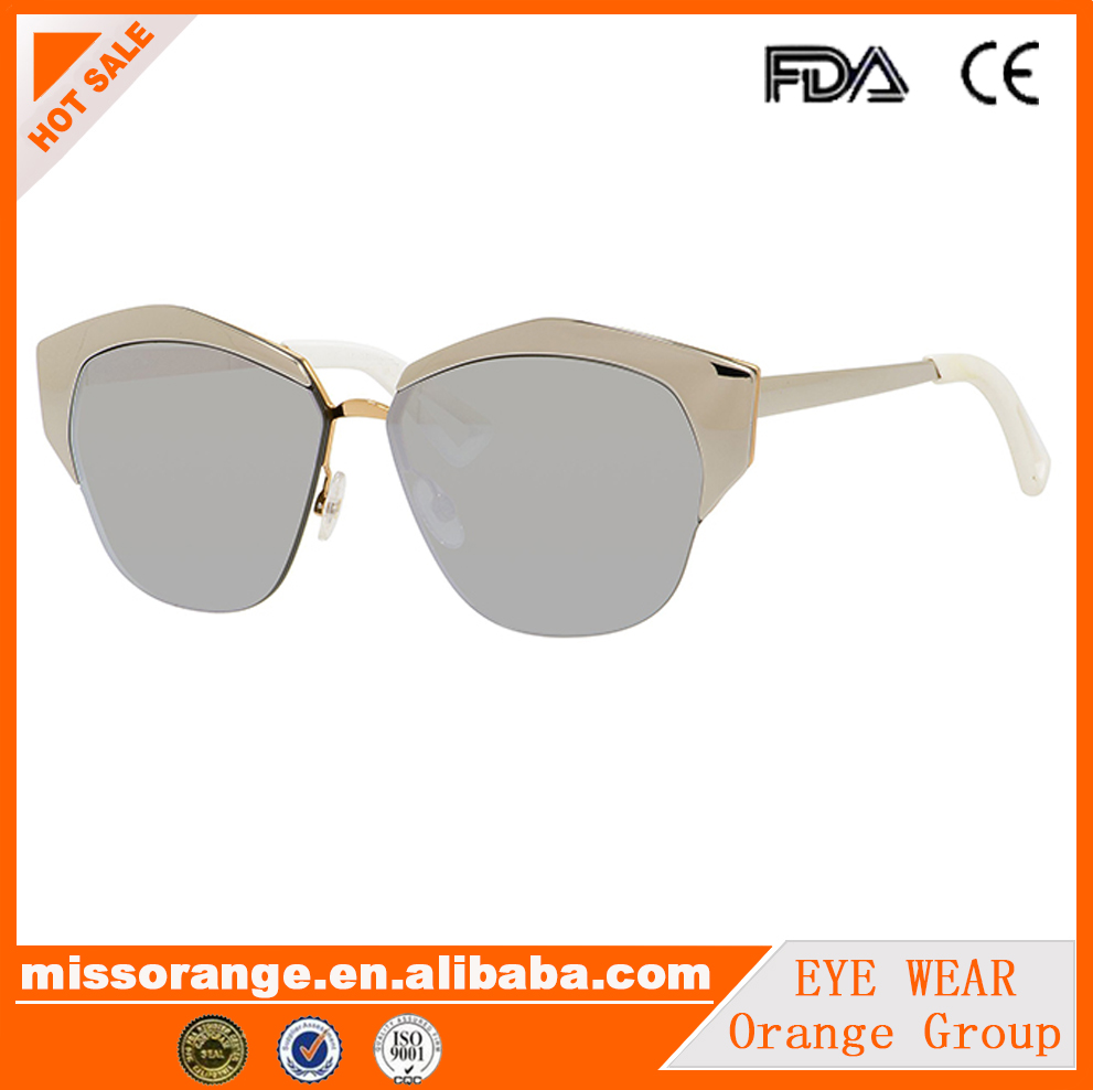 cat eye style newest design 2016 style sun glasses full rim sunglass