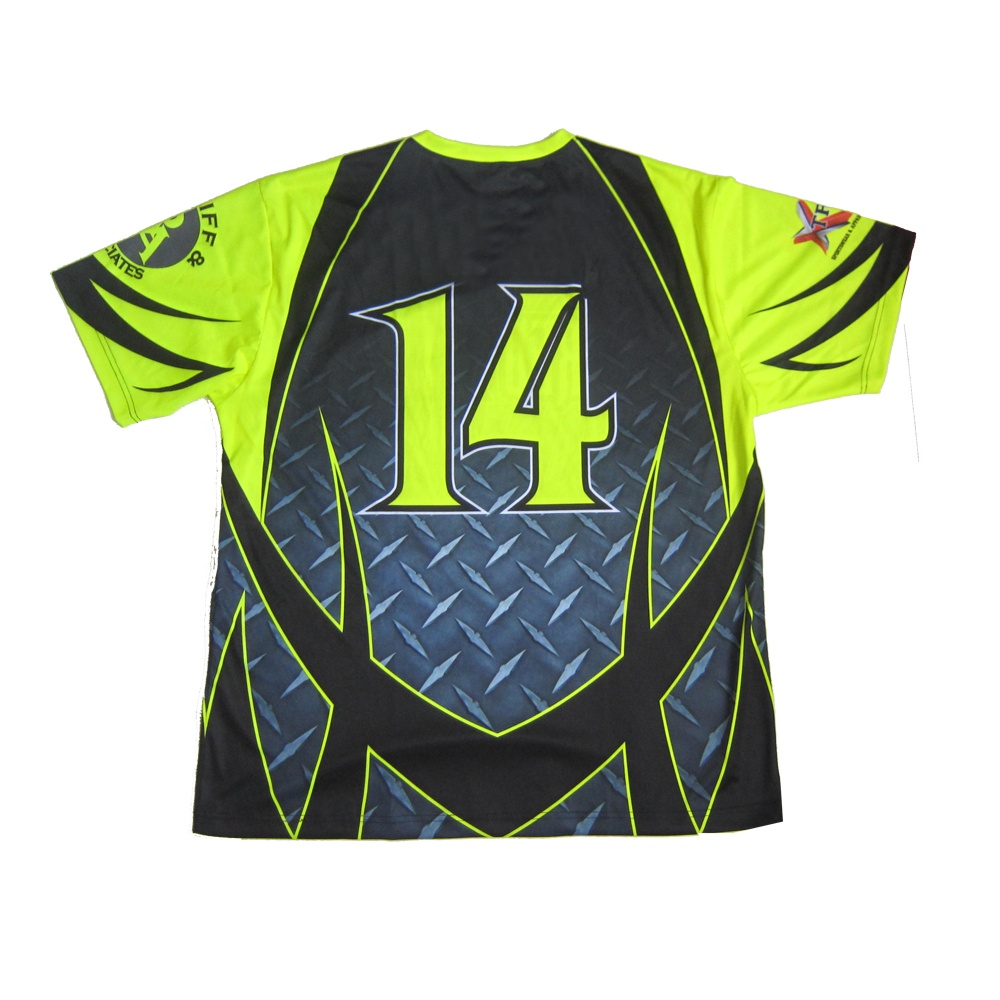 fluorescent yellow boys & girls softball jersey diamond plate baseball jersey