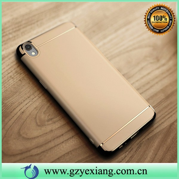 luxury phone back case for oppo a37 hard back cover 3 in 1