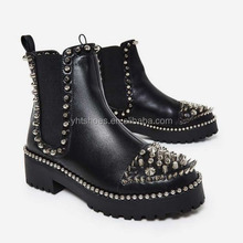 2018 cool women biker boots blade studded Ladies motorcycle bike riding boots