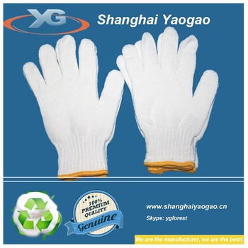 bleached White outdoors working gloves