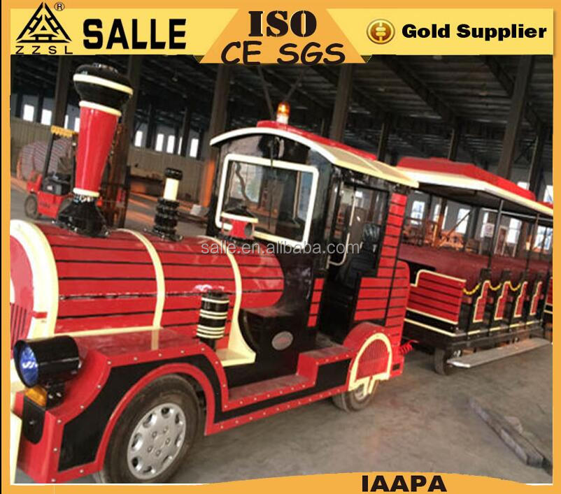 CE Certified Cheap Trackless Road Diesel Tourist Train Sightseeing Road Train for sale