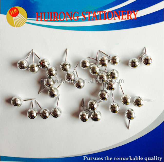 wholesale round strong silver pearl pin