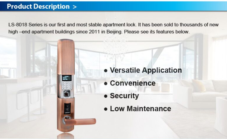 Digital security smart electronic door lock
