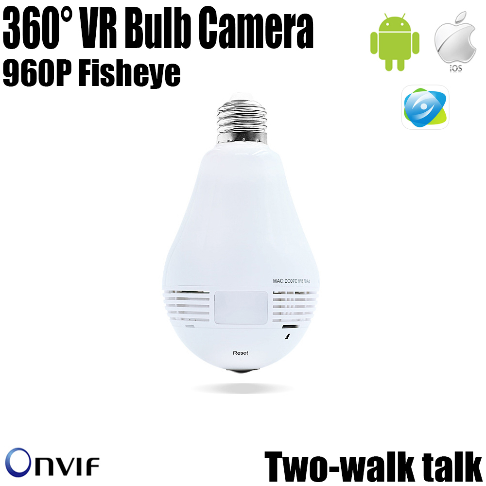 Unique Fashion Array Lamp 960P Panoramic 360 HD night vision Wide Angle Fish-eye Lens wireless WIFI monitor security ip camera