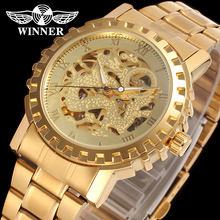 2016 Factory Cheap Price Winner Gold Skeleton Automatic Mechanical Watch For Men From China Good Suppliers