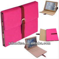 Belt + Buckle Premium Leather Stand Case Cover For iPad 4 / 3 / 2 Sleep Awake