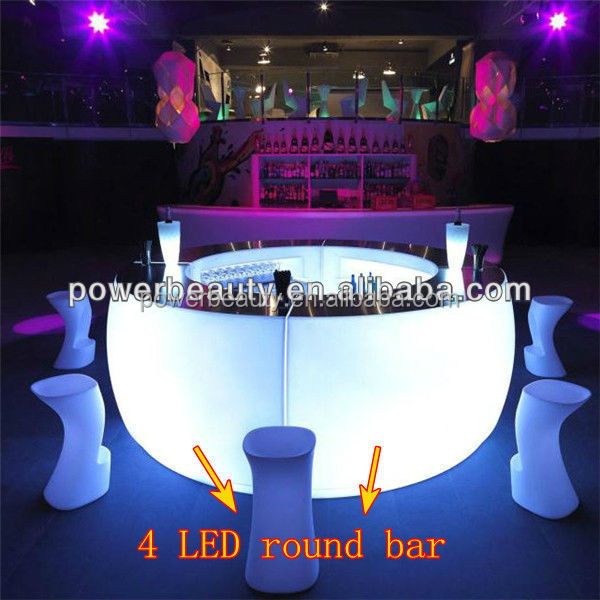 led illuminated combined bar counters with remote