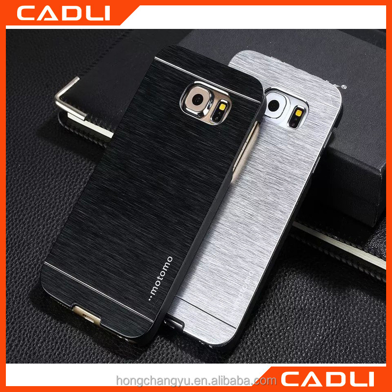 2016 China Manufacturer Hot selling Aluminium Metal MOTOMO Mobile phone case for Samsung S6 edge