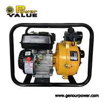 2 inch portable high pressure water pumps, double impeller centrifugal gasoline water pumps