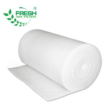 Foshan China supplier industrial subway train air filter cotton roll for spray booth synthetic fiber celling filter