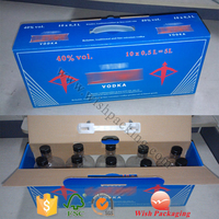 Plastic Handle 10 bottles drinking pack carton carrying package corrugated flute box
