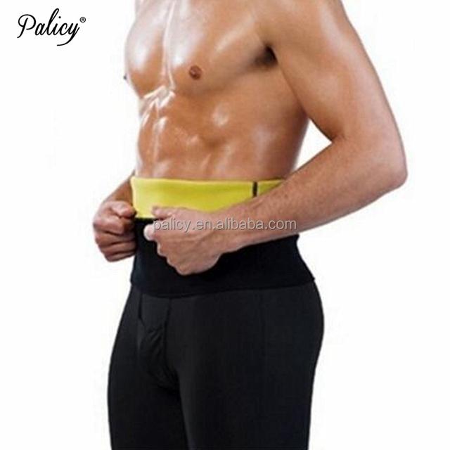 Palicy Men's Hot Shapers Waist-Trimmer Slimming Belt Hot Men's Compression Body Shaper Belt Shaper Waist Trainer Slimming