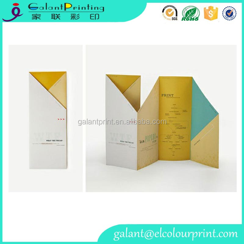Custom printing tri-folded travel brochure wholesale in guangzhou