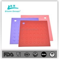 softness anti-slip cup coaster silicone hot pot mat