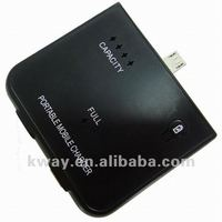 1500mAh Micro USB Plug External Portable Battery Charger Power Station For Samsung Galaxy S2 S3 i777 T989 KWB031
