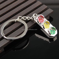 metal traffic lights key chain for promotional gifts