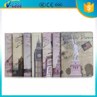 tablet portfolio case pu leather printing case for ipad 6