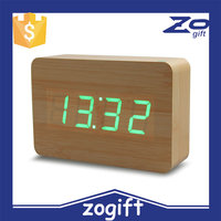ZOGIFT Led wooden digital calendar clock for the elderly , digital clock theme