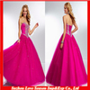 HQ0041 2014 HOT Selling Sweetheart Neckline Satin Rose Red Quinceanera Dresses
