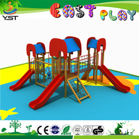 Popular Cheap outdoor wooden children playground slide