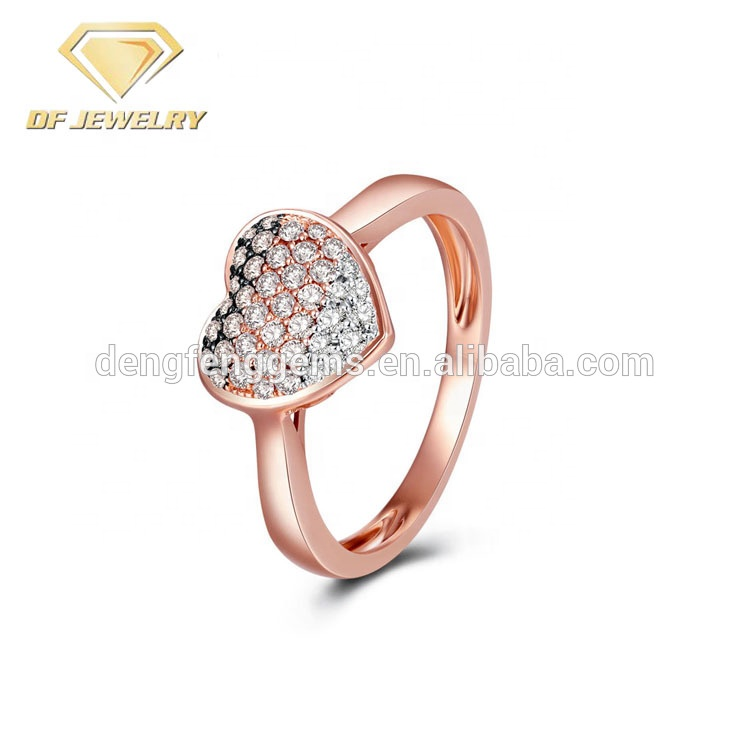 Heart Shape Rose Gold Ring <strong>Jewelry</strong>