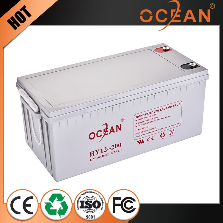 Premium quality elegant 12V 200ah luxury agm deep cycle battery 12v