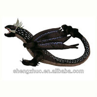 Chinese Stuffed dinosaur toy,plush dragon green dinosaur plush toy