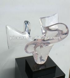 crystal Art decoration clear resin sculpture