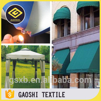 Low Cost High Quality 100% Polyester PVC/PU Coated Waterproof Cpai-84 Fire Flame Retardant Standard Outdoor Awning Tent Fabric
